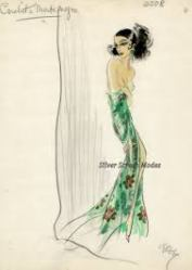 victorian-not-lady-illustration-green-dress-very-sweet-images